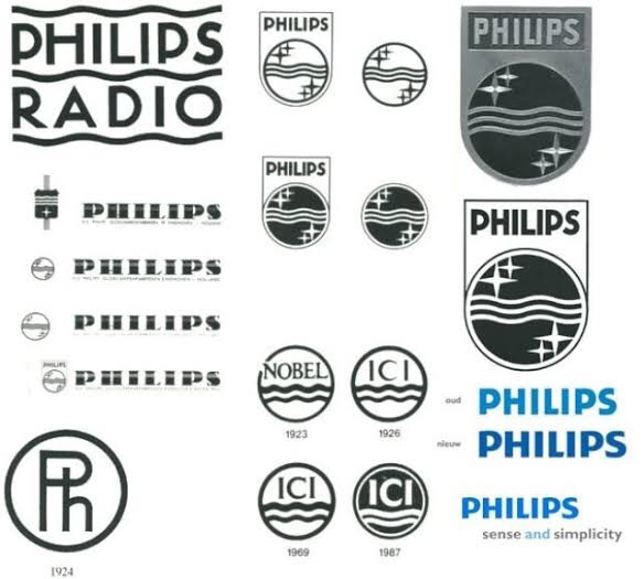 Question on series of old logos of Phillips.