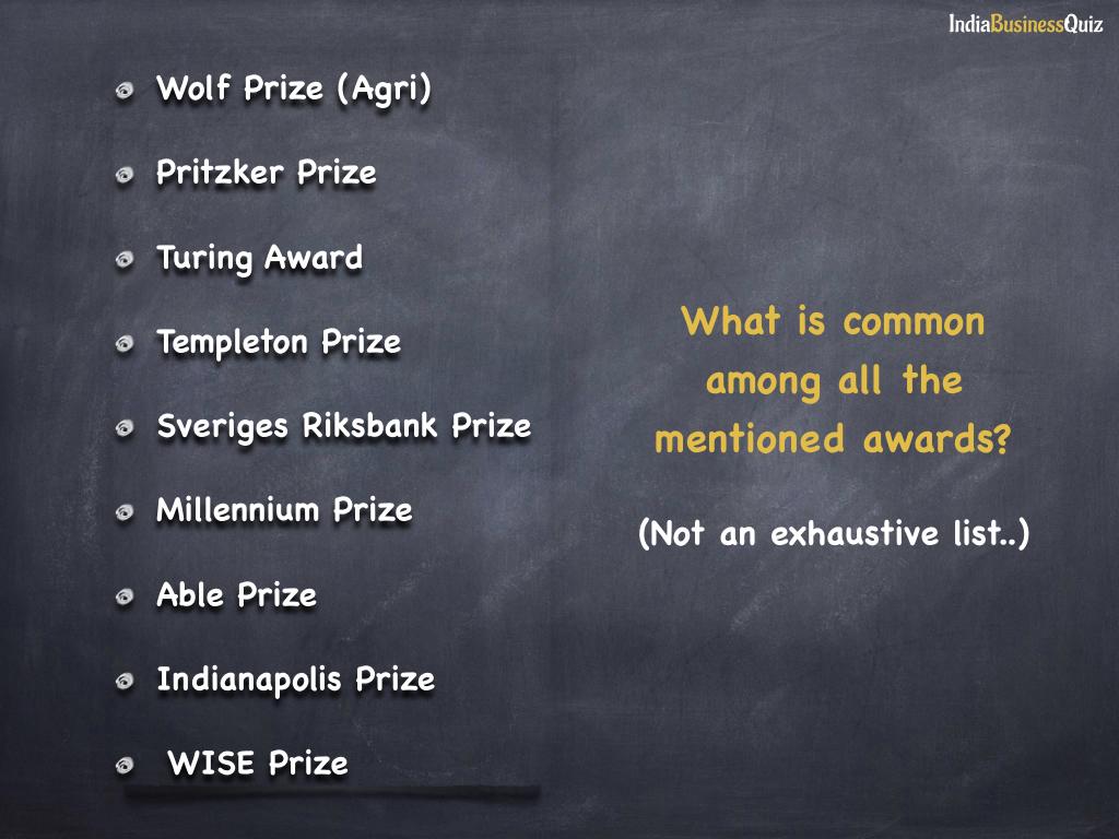 Nobel in respective fields