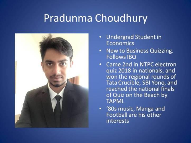 Pradunma Choudhury slide