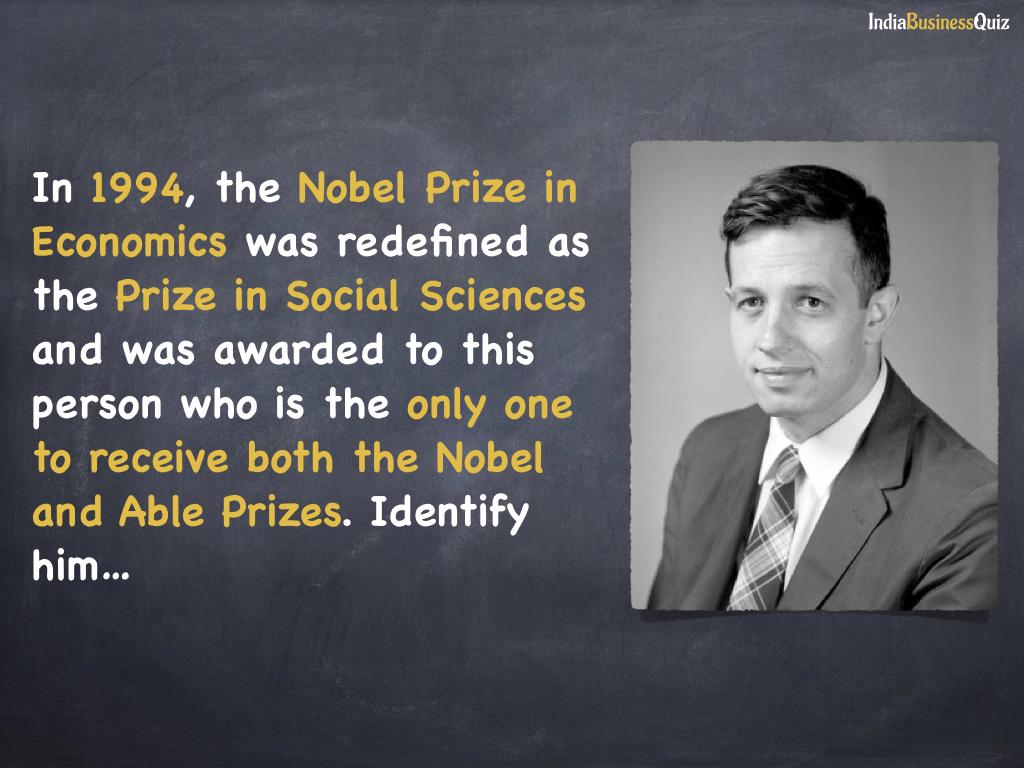 nobel prize in economics