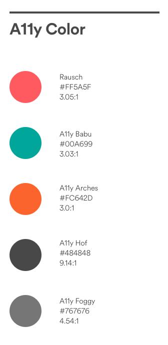 Airbnb colour pallets