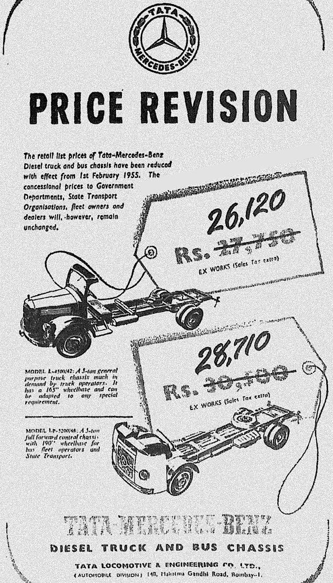 Tata Benz price drop ad